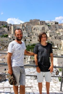 Padre e figlio a Matera
